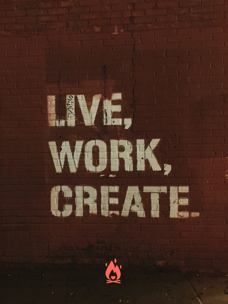Live-Work-Create Digital Wallpaper