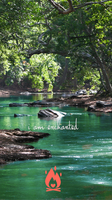I am enchanted Digital Wallpaper
