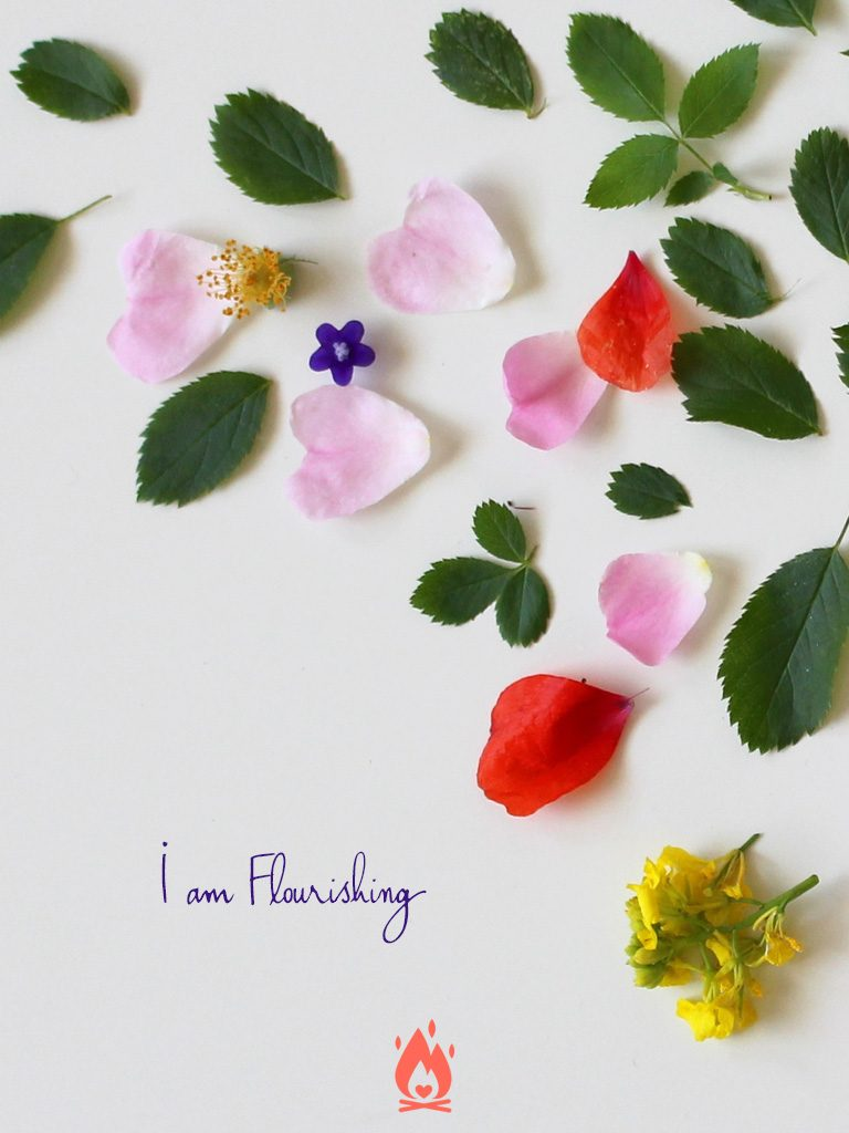 I am Flourishing Digital Wallpaper