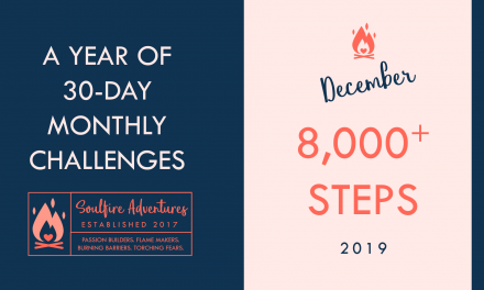 December's Monthly Challenge | 8,000 Steps or More